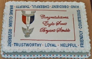 Cake Made For Boy Our Local Troop White Thank You