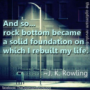 Rock bottom...you CAN turn yourself around!