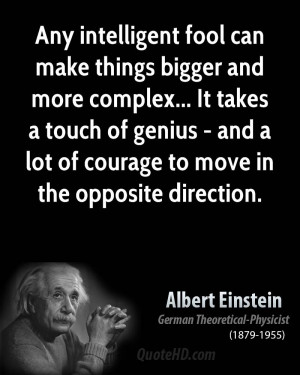 ... Genius Quotes: Albert Einstein Quotes About Intelegent And Madness