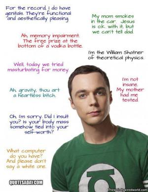 Sheldon cooper quotes!. . Sheldon cooper q