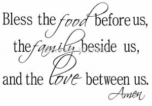 the Food Family Love Religious Dining Room Vinyl Wall Decal quote ...