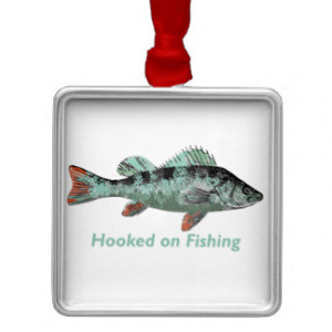 Hooked on Fishing Fun Fisherman Quote Ornament