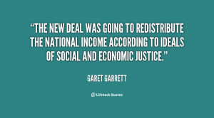 The New Deal was going to redistribute the national income according ...