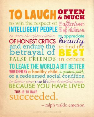 Ralph Waldo Emerson Quote Poster By YinYuHua