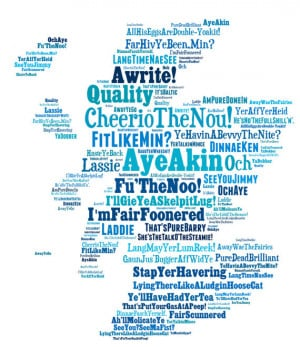 SCOTTISH SAYINGS PRINT- Funny Art Scottish Slang Phrases. Unique ...