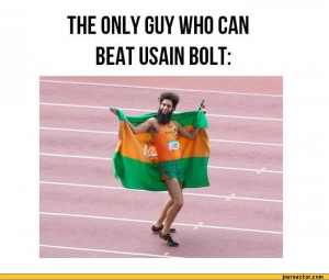 THE ONLY GUY WHO CAN BEAT USAIN BOLT:,funny pictures,auto