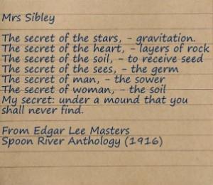 Edgar Lee Masters beautiful poem