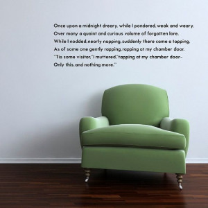 Once Upon A Midnight Dreary Vinyl Wall Quote by WilsonGraphics, $25.00