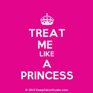 Treat Me Like A Princess' design on t-shirt, poster, mug and many ...