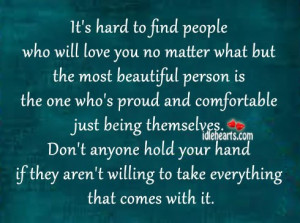 Home » Quotes » It's Hard To Find People Who Will Love You No ...