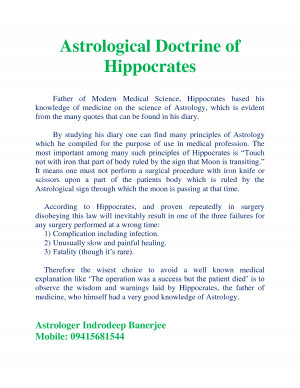 Astrological Doctrine of Hippocrates by dbindia