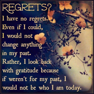 Regrets Quotes - The beautiful English poems for Regrets