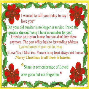 merry christmas to those in heaven inspiration
