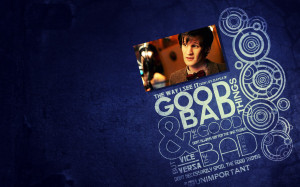 quotes Matt Smith circles typography Eleventh Doctor Doctor Who blue ...