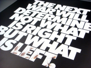 Herb Lubalin The Next War poster