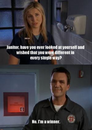 funny picture scrubs janitor conversation wanna joke.com