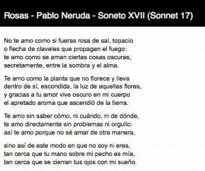 by pablo neruda pablo neruda sonnet 17 soneto xvii by pablo neruda ...