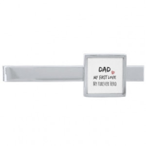 Father of the Bride: Dad and Daughter Quote Silver Finish Tie Clip