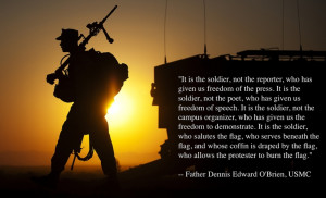 It is the soldier.