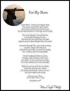 Memorial Dog Poem...pokey and @J O Ann Kearns