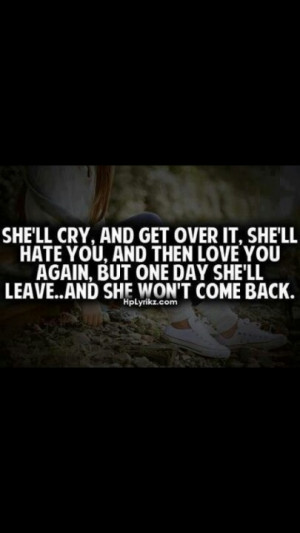 Getting Over You Quotes She'll get over you