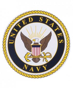 United States Navy Logo Chrome Auto Emblem