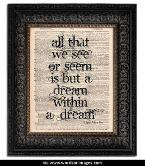 Quotes by edgar allan poe