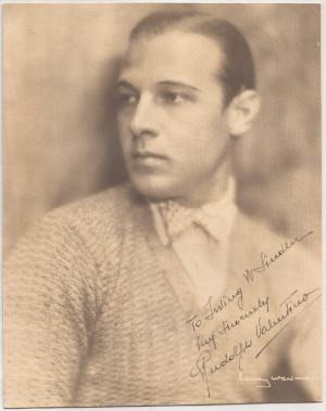 Rudolph Valentino Autographed Henry Waxman Photo