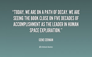 Today, we are on a path of decay. We are seeing the book close on five ...