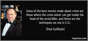 Some of the best movies made about crime are those where the crime ...