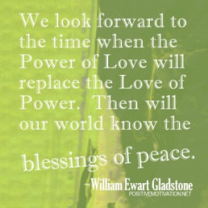 Power of love quote and World peace quote
