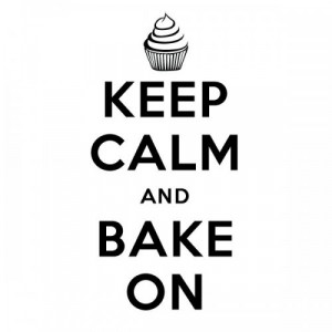 Keep Calm Bake On Wall Quote Decal - 22