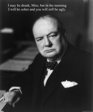 Winston Churchill quote #drinking