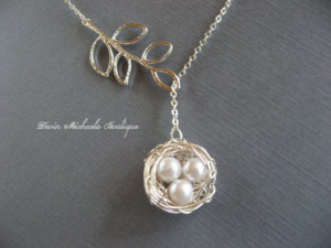 ... Birds, Silver Lariat, Mother'S Day, Birds Nests Necklaces, 22 00, 2200