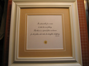 Framed quote for Dad - 9x9 -