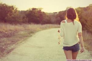 alone, girl, walk, cute, beauty, fashion