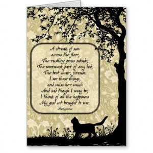 Cat Sympathy Silhouette Card Female