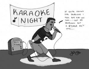 Published April 13, 2013 at 720 × 558 in Cartoon: Lonely Karaoke