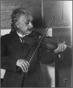 einstein photo on violin einstein quotes john c dvorak commentary