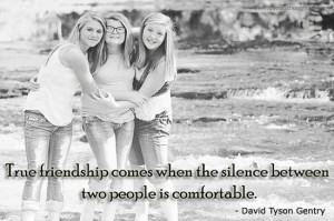 Friendship Quotes-Thoughts-David Tyson Gentry-True friendship