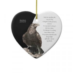 Edgar Allen Poe Quote Watercolor Raven Bird