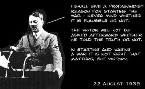 Here are segments of what Hitler ACTUALLY said during the