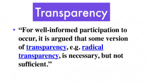 Transparency quote #2