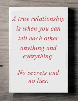 Inspirational Quotes no secrets and no lies