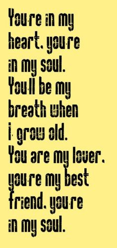 - You're In My Heart - song lyrics, music lyrics, songs, song quotes ...