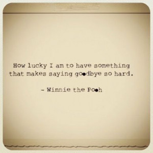 winnie the pooh goodbye quote
