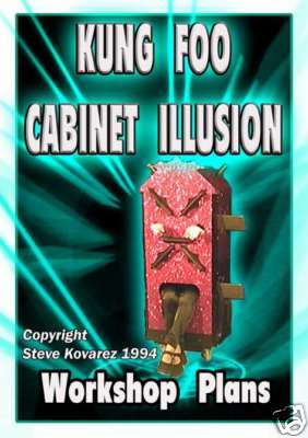 Kung Foo Cabinet Illusion Plans - INSTANT DOWNLOAD