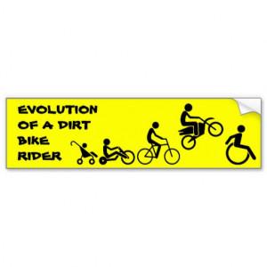 Evolution Of A Rider Dirt Bike Motocross Bumper St Car Bumper Sticker