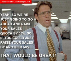 Bad Sales Managers on Sales Quotes