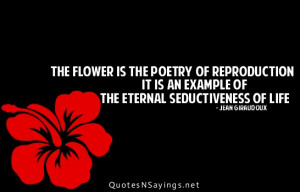 The flower is the poetry of reproduction it is an example of the ...
